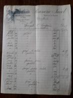 L24/91 Ancienne Facture . Charolles. Brasserie Jacob. 1916 - France