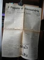 (G38) QUOTIDIANO IL POPOLO DI ALESSANDRIA BISETTIMANALE FEDERAZIONE FASCI REPUBBLICANI N° 37 ANNI II 10 FEBBRAIO 1944 - Riviste & Giornali