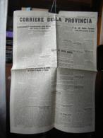 (G42) QUOTIDIANO CORRIERE DELLA PROVINCIA - CUNEO 2 OTTOBRE 1943 ANNO 1 N° 22 - Riviste & Giornali