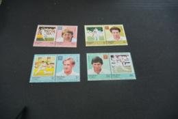 K22915 -set MNh Nukufetau -Tuvalu 1985 - Cricket - Cricket