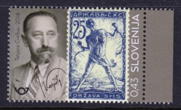 1.- SLOVENIA 2018 Centenary Of The First Slovene Postage Stamps - Sellos Sobre Sellos