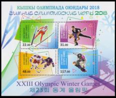 2018Kyrgyzstan 919-22/B902018 Olympic Games In Pyeongchang - Winter 2018: Pyeongchang