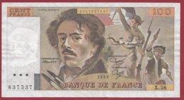 "100 Francs ""Delacroix"" 1982 ---F/TTB+--ALPH.X.58 - 100 F 1978-1995 ''Delacroix''"