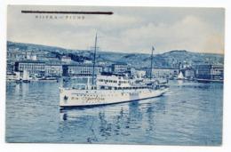 1948 YUGOSLAVIA, CROATIA, RIJEKA, FIUME TO ZAGREB, SHIP, ITALIAN CARD, ILLUSTRATED POSTCARD, USED - Croatia