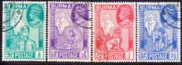 BURMA 1946 SG #64-67 Compl.set Used Victory - Birmanie (...-1947)