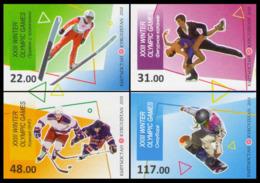 2018Kyrgyzstan 919-922b2018 Olympic Games In Pyeongchang  (edition 900) - Winter 2018: Pyeongchang