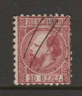1867 Nvph Nr.8IIB  10 Ct Willem III Penvernietiging  CW 10- - Period 1852-1890 (Willem III)