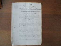 17 AVRIL 1852 OBLIGATION PAR LE SIEUR CARLOT MARCHAND BRASSEUR A HOUDAIN ET DAME SOPHIE MARIN SON EPOUSE A M.AUGUSTE VO - Manuscrits