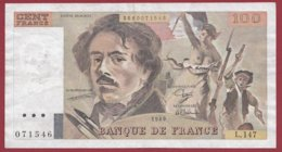 "100 Francs ""Delacroix"" 1989 ---F/TTB+--ALPH.L.147 - 100 F 1978-1995 ''Delacroix''"