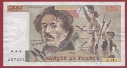 "100 Francs ""Delacroix"" 1989 ---F/TTB+--ALPH.X.145 - 100 F 1978-1995 ''Delacroix''"