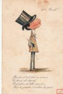 1 Er AVRIL- Monocle à L'oeil,tube En Arrière.........1905 Bon état - April Fool's Day