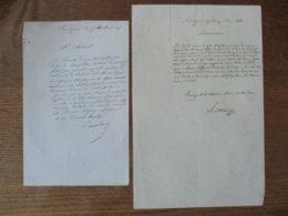 30 AVRIL 1848 LOUVIGNIES-BAVAY COURRIER DE M. MANDRON A M.ROBAUT MAIRE,8 MAI 1848 REPONSE DE M. ROBAUT MAIRE A M. MANDRO - Manuscrits
