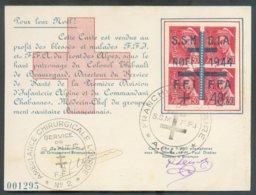 PETAIN 1Fr50 Surch. RF Obl. Sc WATTIGNIES Sur Enveloppe Du 6-9-1944 De BRASSERIE DELAHAYE LILLE Vers Wattignies - 14639 - Liberación