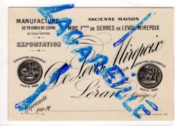 Léran (09) Manufacture De Peigne En Corne De Levis Mirepoix - Visitekaartjes