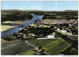 Carte Postale 30. Pont-Saint-Esprit  Vue D'avion Trés Beau Plan - Pont-Saint-Esprit