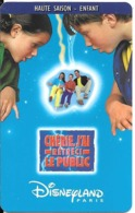 PASS-DISNEY-DISNEYLAND PARIS-1999-CHERIE J AI RETRECI LE PUBLIC-ENFANT-SPEOS-99/06/HOE-TBE-RARE - Toegangsticket Disney