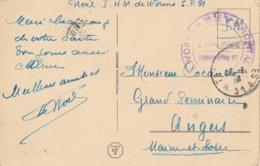 Tampon Hôpital Militaire De Worms (Allemagne) + Cachet Trésor Et Postes 31 En 1923 - Marcofilie (Brieven)