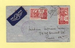 Dahomey - Cotonou - 16 Janvier 1940 - Controle Postal - Par Avion Destination France - Lettres & Documents