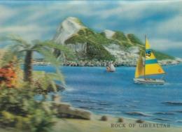 Postcard Rock Of Gibraltar Lenticular 3 D PU 1970 My Ref  B23816 - Gibraltar