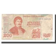 Billet, Grèce, 200 Drachmaes, 1996, 1996-09-02, KM:204a, TTB - Griechenland