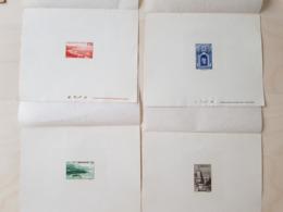 Rare ! 4 épreuves De Luxe Monaco 1938 YT 176,177,179,183. Vues De Monaco - Collections, Lots & Series