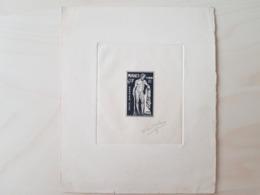 Monaco épreuve D'artiste Signée Charles-Paul Dufresne, Poste Aérienne YT 29 6f+9f - Airmail