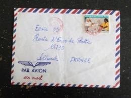 LETTRE TOGO AVEC YT 1354 JOURNEE MONDIALE DE LA POSTE - Togo (1960-...)
