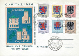 Luxembourg  -  FDC    5.12.1956   Caritas 1956 - FDC