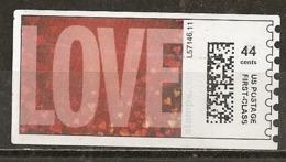 Etats-Unis USA Labels Love Obl - Machine Stamps (ATM)