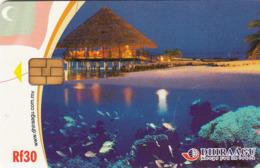 MALDIVES - House, Underwater Fish & Corals, CN : 2MLDGIW, Used - Maldiven
