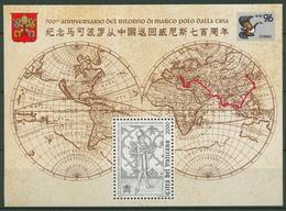 Vatikan 1996 Marco Polo In China Block 16 Postfrisch (C91491) - Blocks & Kleinbögen