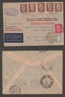 Deutsches Reich 1932 AIR FRANCE AEROPOSTALE Luftpost Brief DRESDEN Nach RIO DE JANEIRO Brasilien 285Pf - Alemania