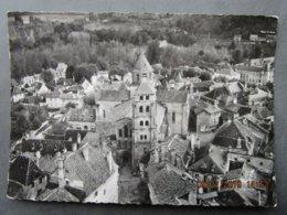 CP 19 Corrèze BEAULIEU Sur DORDOGNE - En Avion Au Dessus Du Quartier Du Clocher De L'église Saint Pierre 1964 , - Francia