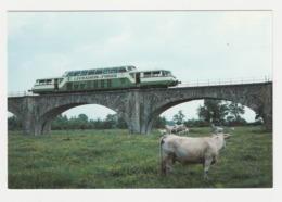 CPM VOIR DOS Train 42 Montrond Les Bains Vers Feurs Autorail Panoramique X 4208 De L'AGRIVAP Le 16 Mai 1992 Vaches - Feurs