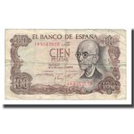 Billet, Espagne, 100 Pesetas, L.1970 (1974), 1970-11-17, KM:152a, TB - [ 3] 1936-1975 : Regime Di Franco