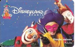 PASS-DISNEYLANDPARIS -1997-5 ANS-ADULTE--V°SPEOS- N° S 049718-TBE- - Toegangsticket Disney