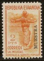 España Edifil Especializado 798m** Mnh  MUESTRA  Milicias  1938  NL1598 - 1873 1. Republik