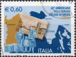 VARIETA 2007 - GIULIANA DI FERTILIA - CARTOLINA SPOSTATA - USATO - 6. 1946-.. República