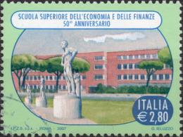 VARIETA 2007 - SCUOLA ECONOMIA E FINANZE - COLORI FUORI REGISTRO - USATO - 6. 1946-.. República