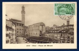 Italie. Siena. Piazza Del Mercato. Torre Del Mangia (1344). 1933 - Siena