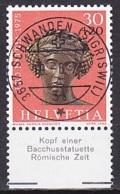 Switzerland/1975 - Zu 167 - 30 + 20 C - USED/'3657 SCHWANDEN (SIGRISWIL)' - Pro Patria
