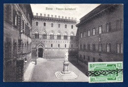 Italie. Siena. Piazza Salimbeni. Statua Di Sallustio Bandini. Palazzi Salimbeni, Spannocchi E Tantucci. 1933 - Siena