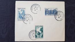 Affaire ! Lettre 1er Jour Conférence De Paris 1946 Avec 2 Timbres Conférence Et Un Palais Du Luxembourg - Commemorative Postmarks