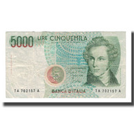 Billet, Italie, 5000 Lire, D.1985, KM:111a, TB+ - [ 2] 1946-… : Républic