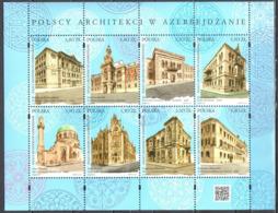 Poland 2019 - Polish Architects In Azerbaijan - Mi.5117-24 Sheet - MNH(**) - Blocs & Hojas