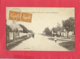 CPA - La Ferté Villeneuil -(Eure Et Loir ) - Route De Châteaudun - France
