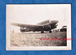 Photo Ancienne Snapshot - Aérodrome à Situer - Bel Avion à Identifier , Militaire ?- Aviation Armée De L'Air ? - Aviation