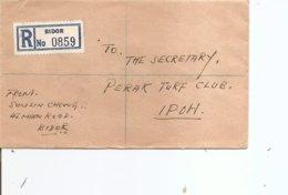Malaisie ( Lettre Recommandée De 1957 De Bidor Vers Ipoh à Voir) - Malayan Postal Union