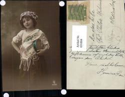 631804,Sinti Roma Mignon Zigeuner Mädchen Tamburin - Ansichtskarten