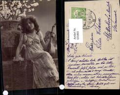 631803,Sinti Roma Mignon Zigeuner Mädchen Mandoline - Ansichtskarten